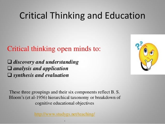 journal of critical thinking Journal of adult education volume 39, number 1, 2010 1 the three-part harmony of adult learning, critical thinking, and decision-making kyle moore.