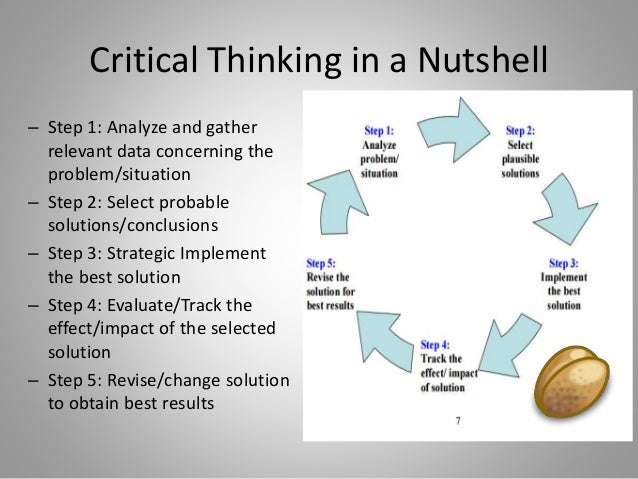 Critical thinking and tolerance analysis