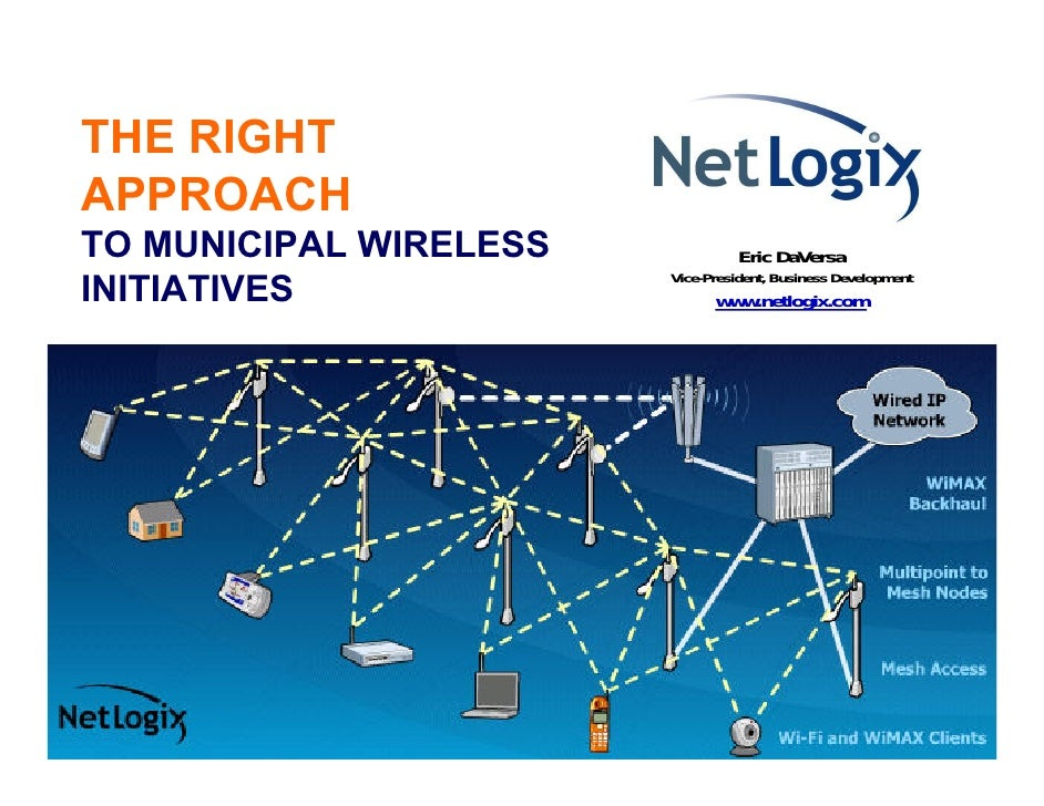 THE RIGHT APPROACH TO MUNICIPAL WIRELESS             Eric DaVersa                         Vice-President, Business Develop...