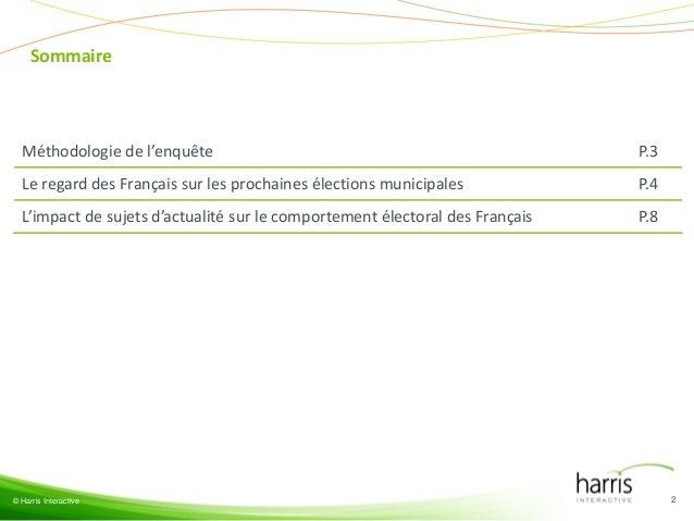 Municipales et impact de l'actualité Slide 2