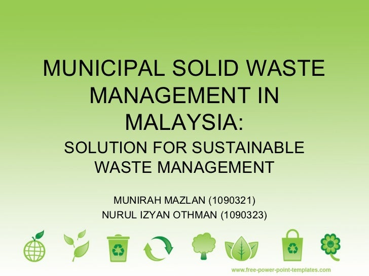 dissertation on solid waste management The solid waste division is responsible for coordinating the city's trash, yard waste and recycling programs, as well as sponsoring environmentally-friendly cleanup projects in the gainesville community and enforcement of the solid waste code of ordinances, chapter 27, article iii, sec.