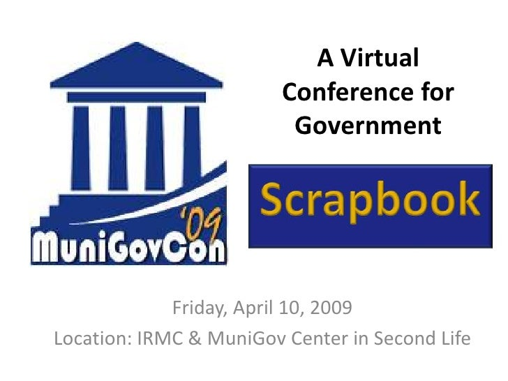 A Virtual                          Conference for                           Government                  Friday, April 10, ...
