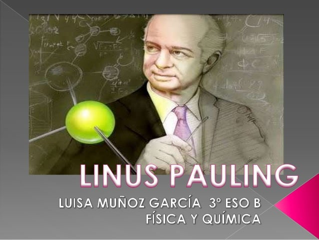  Linus   Carl Pauling, the only  person to win two unshared  Nobel Prizes, revolutionized the  study of chemistry, helped...