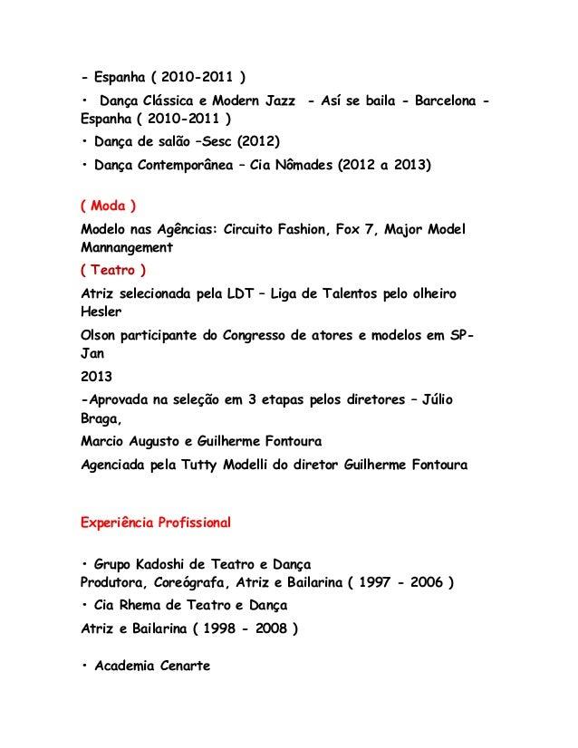 Magnífico Curriculum Vitae Teatral Motivo - Colección De Plantillas ...