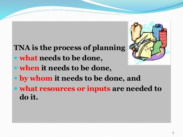 Time and Action Plan in Garment industry