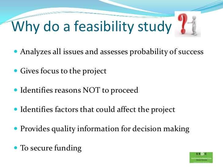 feasibility study 2 essay The development of this feasibility study aims in showing a potential business from establishing an institutional support photocopying service, specifically, the proponent would like: 1 to service the market for which the study was created.
