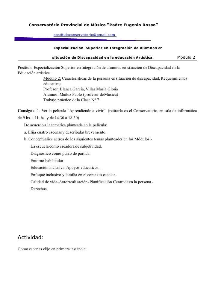 """Conservatório Provincial de Música """"Padre Eugenio Rosso""""                        postituloconservatorio@gmail.com          ..."""