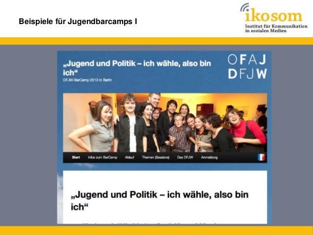 Beispiele für Jugendbarcamps II  Deutsch-Französisches Jugendbarcamp