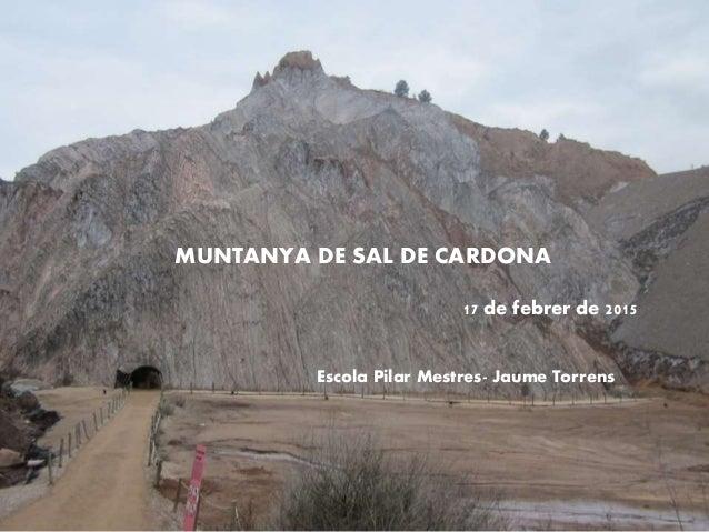 MUNTANYA DE SAL DE CARDONA 17 de febrer de 2015 Escola Pilar Mestres- Jaume Torrens