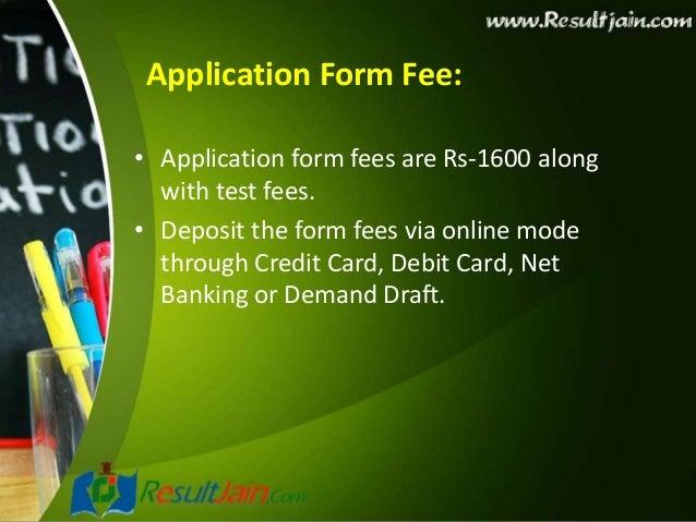 neet entrance exam application form