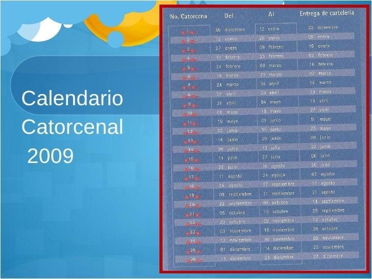 Calendario  Catorcenal  2009