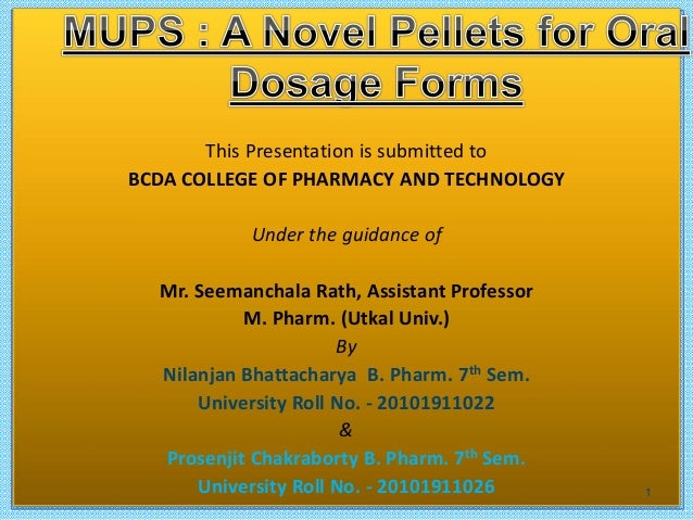 This Presentation is submitted to BCDA COLLEGE OF PHARMACY AND TECHNOLOGY Under the guidance of Mr. Seemanchala Rath, Assi...