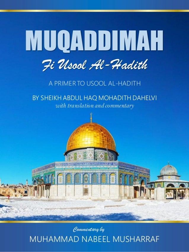 Muqaddimah Usool Al Hadith (Shah Abdul Haq Muhadith Dehlavi) english