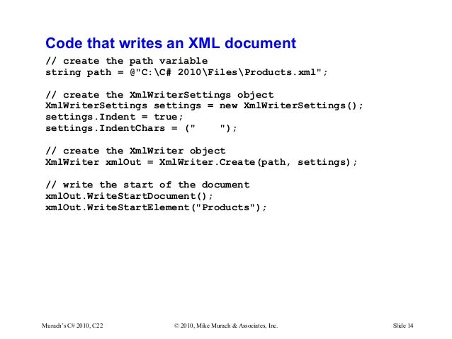 C# Tutorial MSM_Murach chapter-22-slides