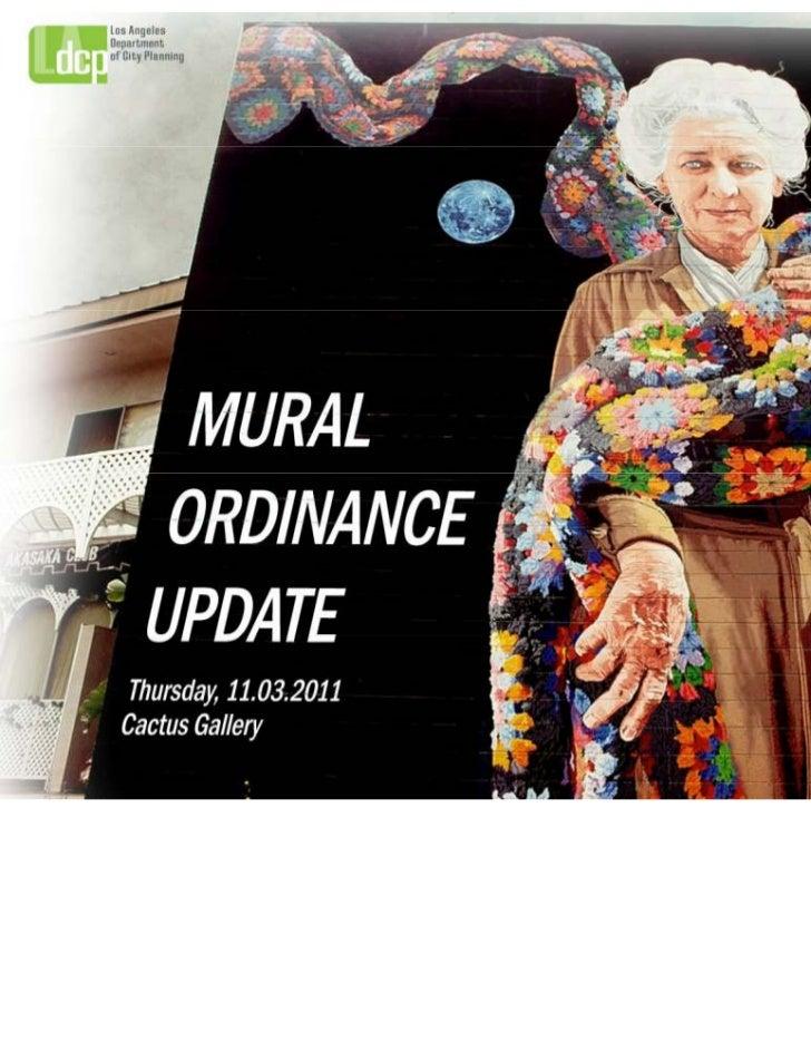 Mural Ordinance Update @ Cactus Gallery