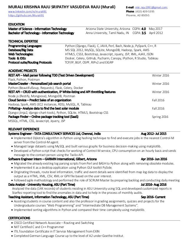 front end developer resume sample velvet jobs - Python Developer Resume