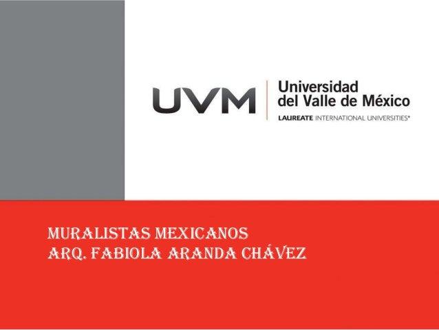 MURALISTAS MEXICANOSArq. Fabiola Aranda Chávez