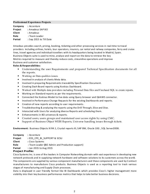 2 - Bo Administration Sample Resume