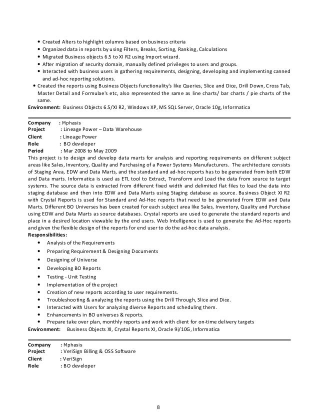 top business objects developer resume samples break up breakupus great best resume examples for your job - Business Object Resume