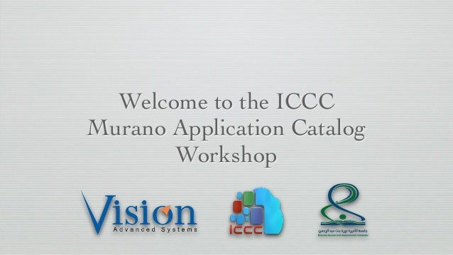 Welcome to the ICCC Murano Application Catalog Workshop