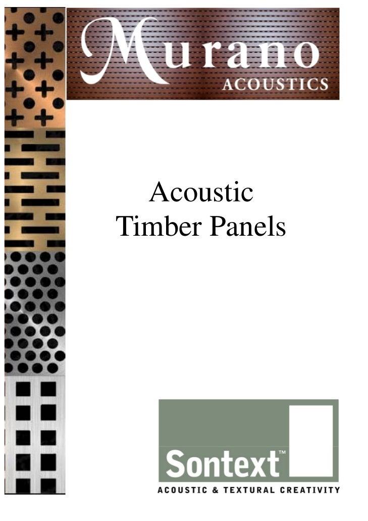 AcousticTimber Panels