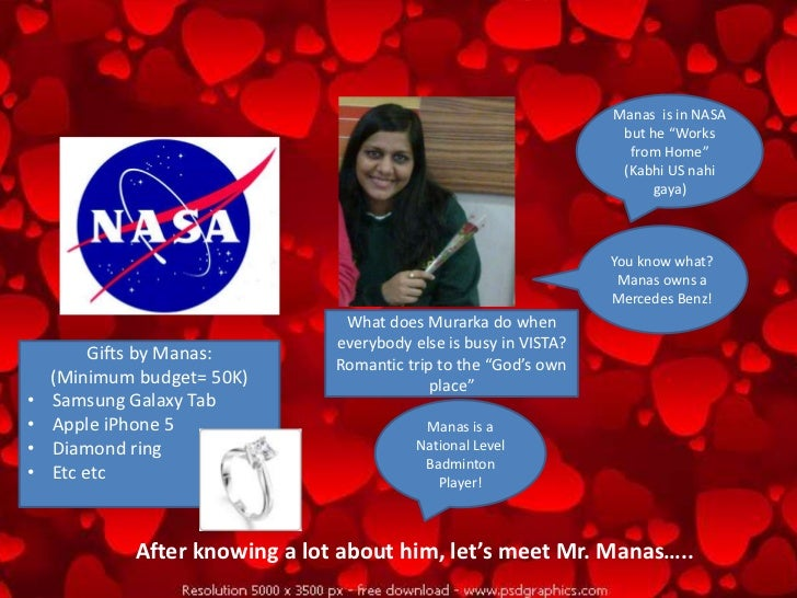"""Manas is in NASA                                                                   but he """"Works                          ..."""