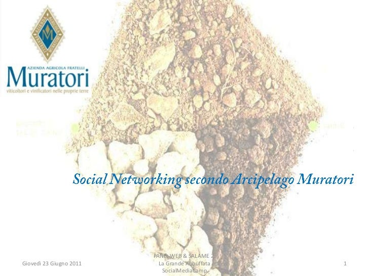 La carta canta MA IL WEB URLASocial Networking secondo Arcipelago Muratori<br />Giovedì 23 Giugno 2011<br />1<br />PANE, W...