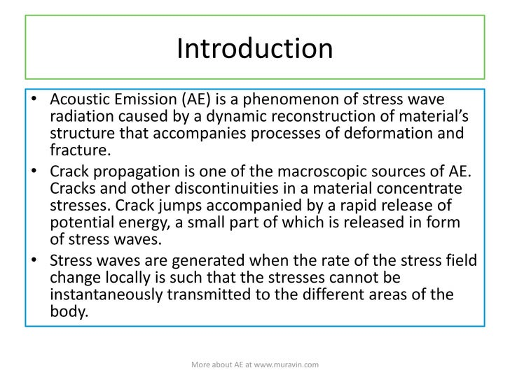 Acoustic Emission Wave Propagation And Source Location by Boris Muravin Slide 3