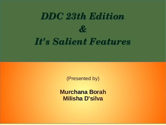 DDC 23rd Edition