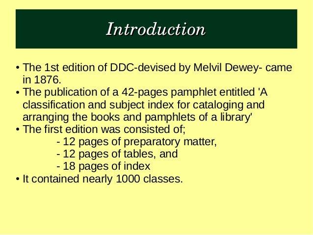 DDC 23 Summaries