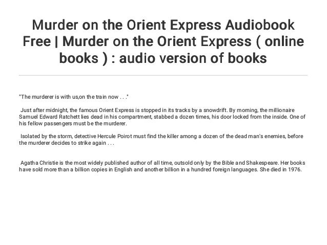 murder on the orient express online free book