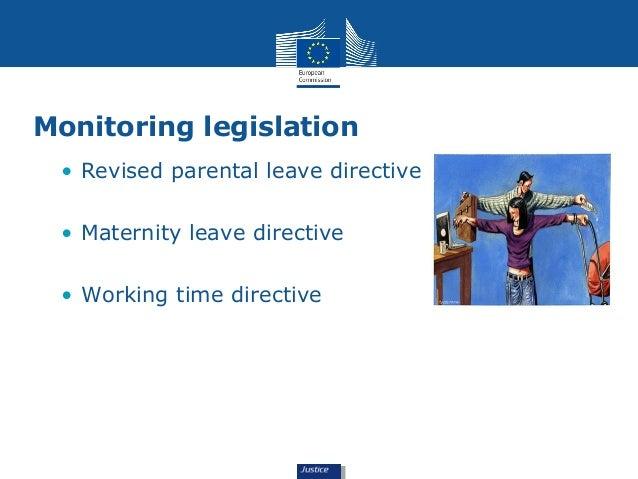 Monitoring legislation  • Revised parental leave directive  • Maternity leave directive  • Working time directive