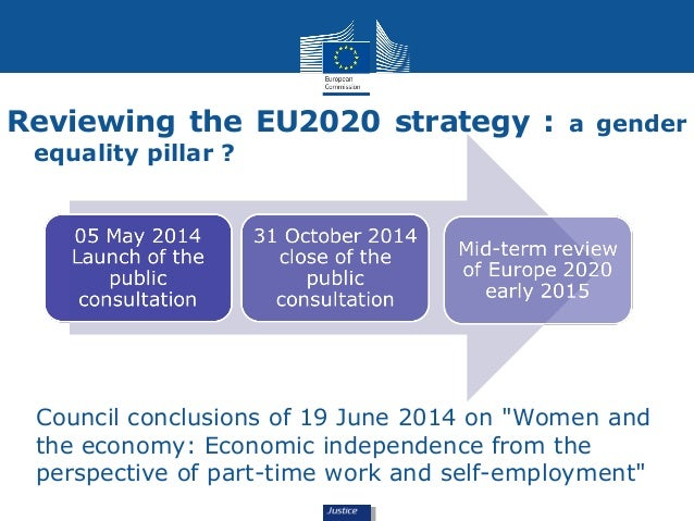 """Reviewing the EU2020 strategy : a gender  equality pillar ?  Council conclusions of 19 June 2014 on """"Women and  the econom..."""