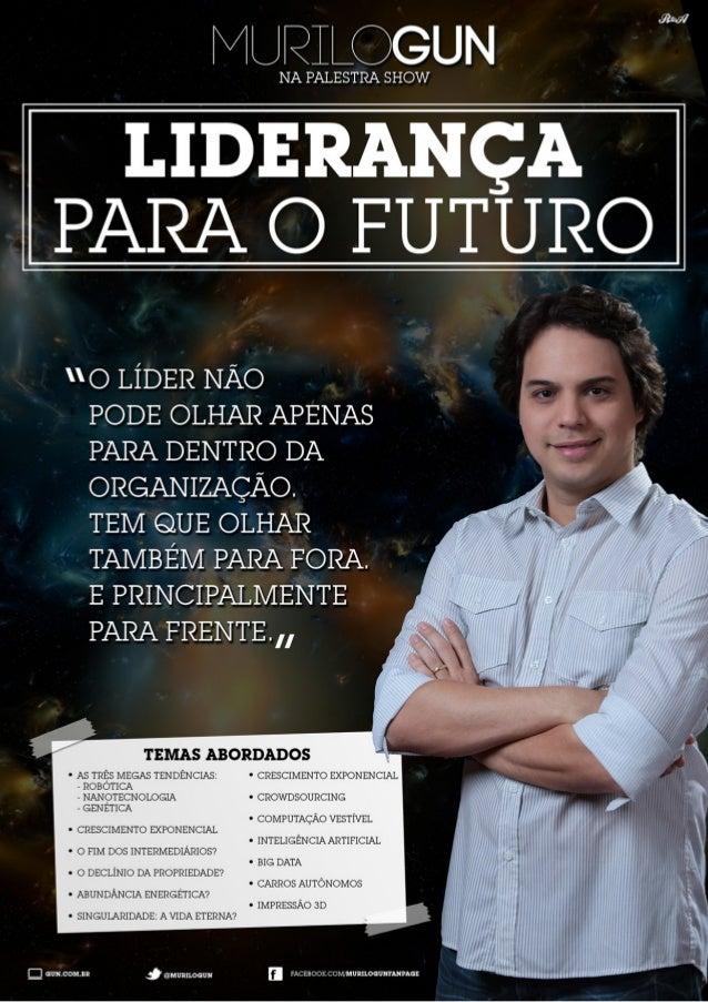 """Brochura da palestra """"Liderança para o Futuro"""""""