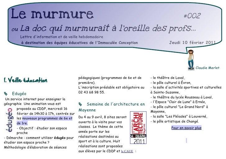 Le murmure                                                                                                  #002    ou   L...