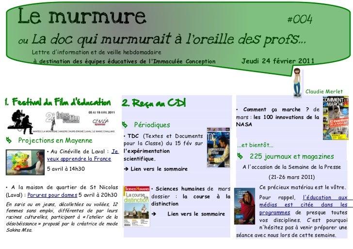 Le murmure                                                                                                          #004  ...