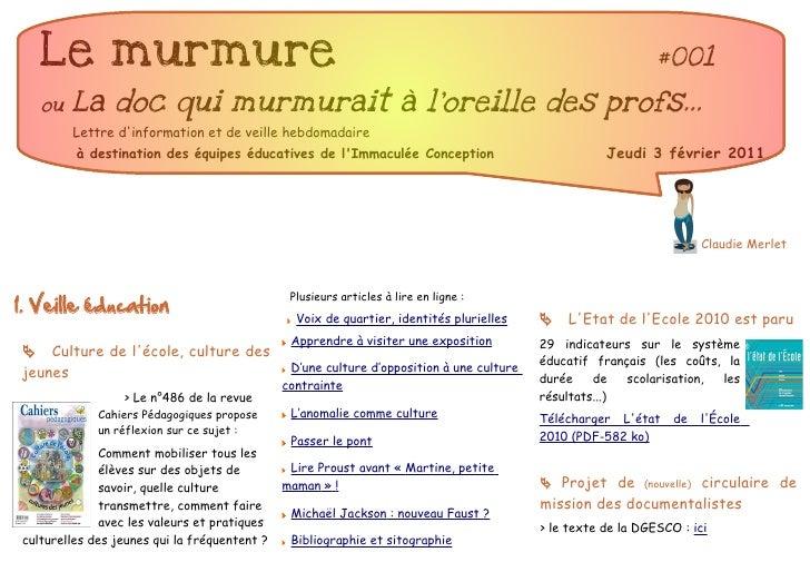 Le murmure                                                                                                #001   ou   La d...