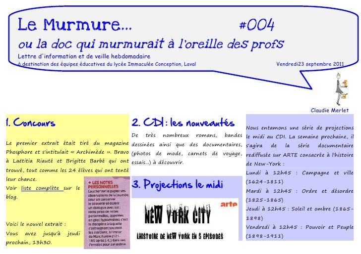 Le Murmure...                                                                             #004       ou la doc qui murmura...