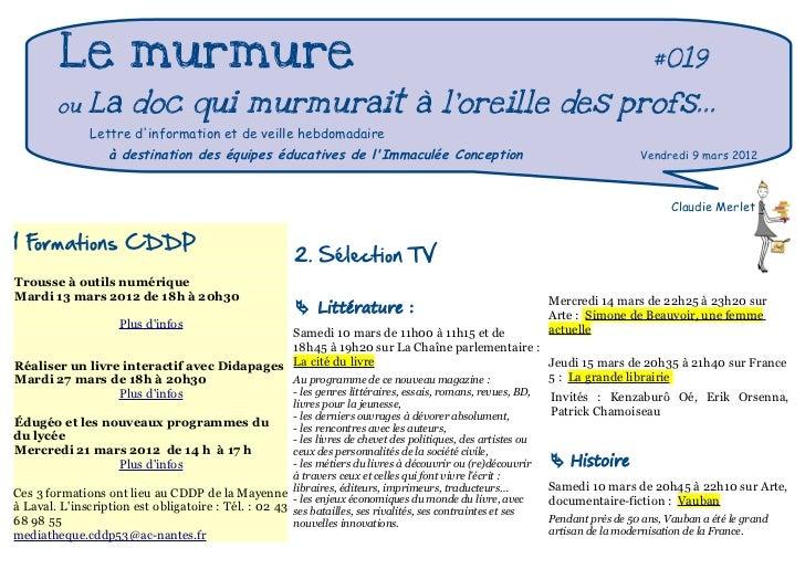 Le murmure                                                                                                              #0...