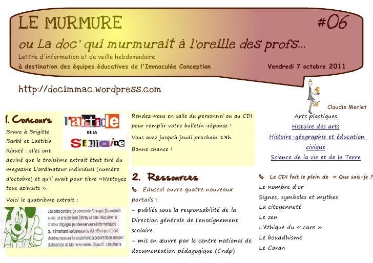 LE MURMURE                                                                                                     #06    ou L...