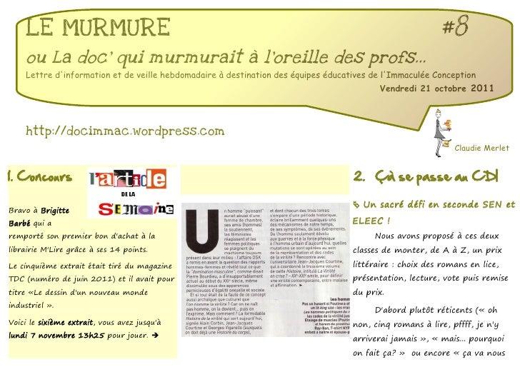 LE MURMURE                                                                                           #8    ou La doc qui m...