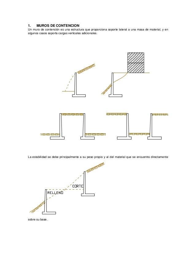 muros de contencion un muro de contencin es una estructura que proporciona soporte lateral
