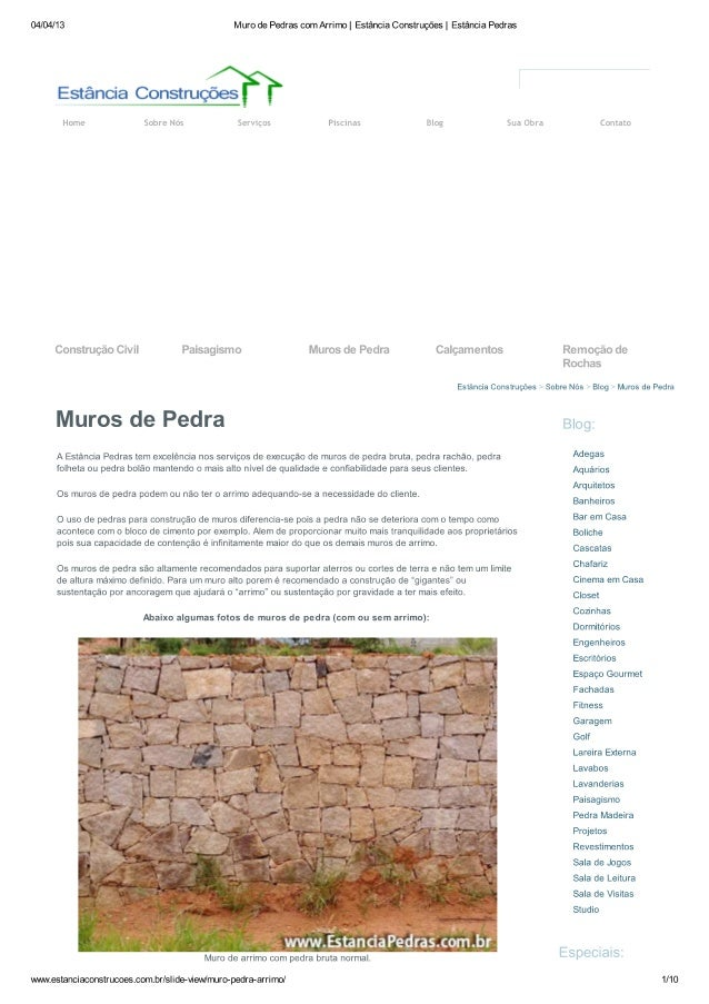 Muro de Pedras | Estância Construções