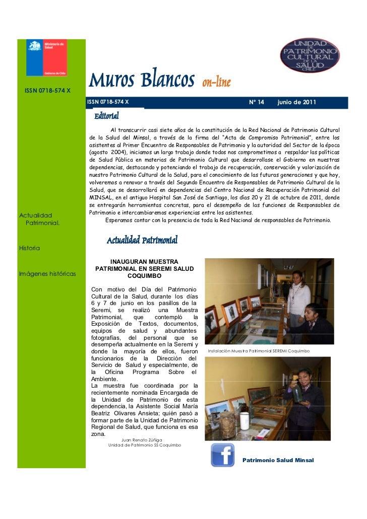 ISSN 0718-574 X                      Muros Blancos on-line                      ISSN 0718-574 X                           ...