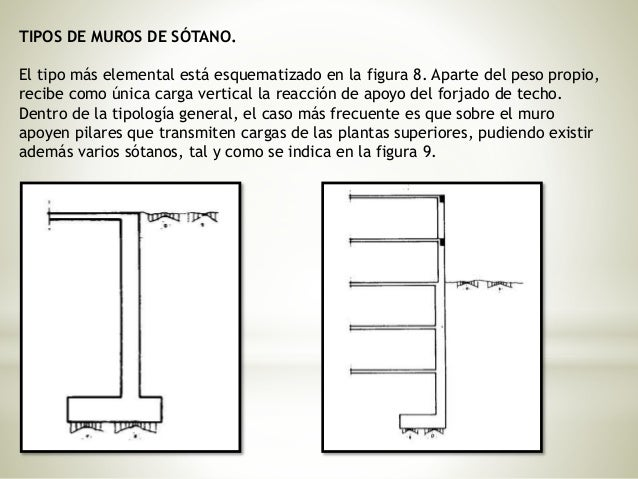 Muros de contencion - Tipos de muros ...