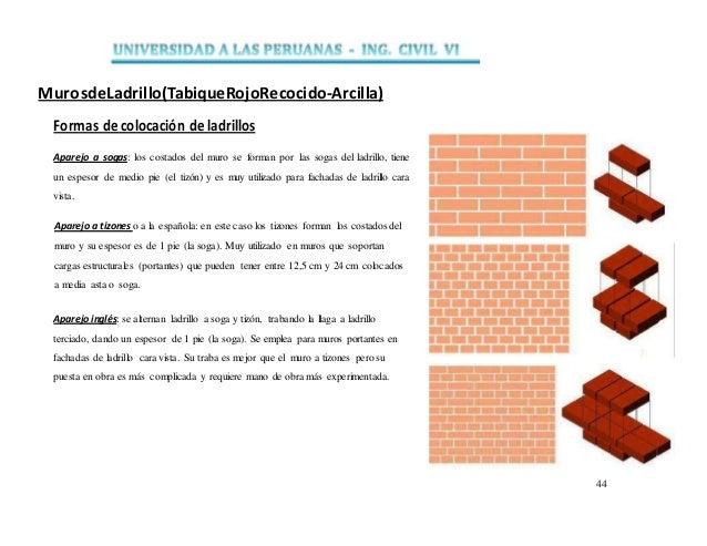 Muros trabajo 1 - Ladrillo macizo dimensiones ...
