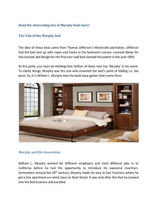 Who Invented The Bed >> Murphy Beds In Fort Worth Who Was Murphy