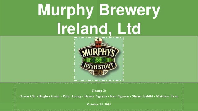 murphy brewery ireland case study Public art in the community programme  based on the legacy of the recently demolished bass ireland brewery,  pride in place: tackling incivilities case study.