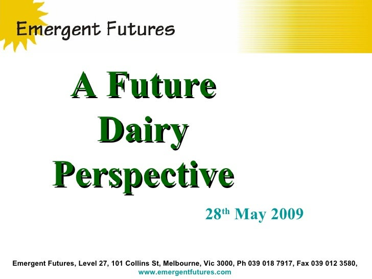 Emergent Futures, Level 27, 101 Collins St, Melbourne, Vic 3000, Ph 039 018 7917, Fax 039 012 3580,  www.emergentfutures.c...