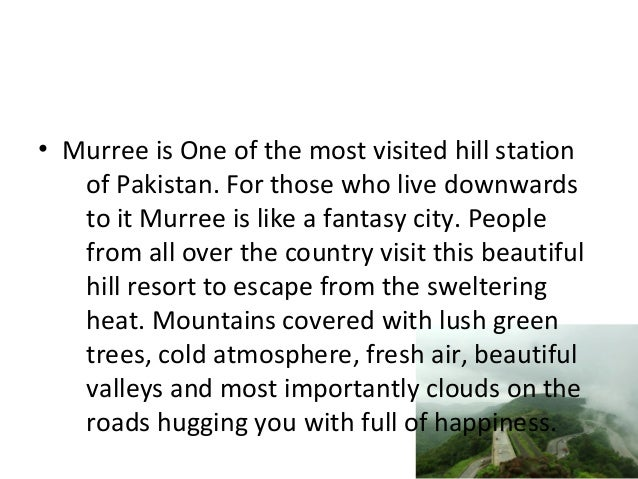 essay a visit to a hill station murree